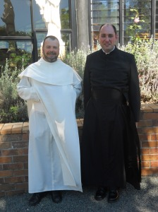 Fr Columba Macbeth-Green OSPPE, Rector of Marian Valley, and myself