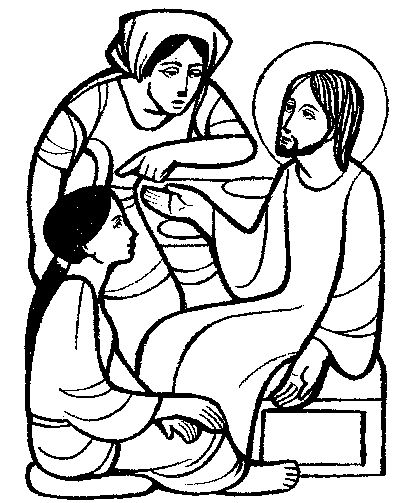 coloring pages jesus martha mary - photo#21