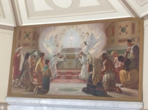 The painting above the high altar in Corpus Christi church, Nundah, Brisbane