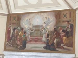 The painting above the high altar in Corpus Christi church, Nundah, Brisbane