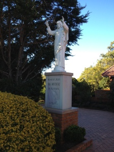 Statue outside Sacred Heart Church, Toowoomba