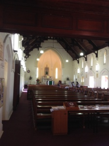 Mass was celebrated in Mary Immaculate Church, Annerley, which is also where I was baptized