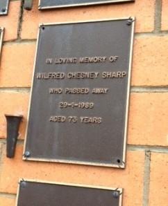 Crematorium plaque Grandad