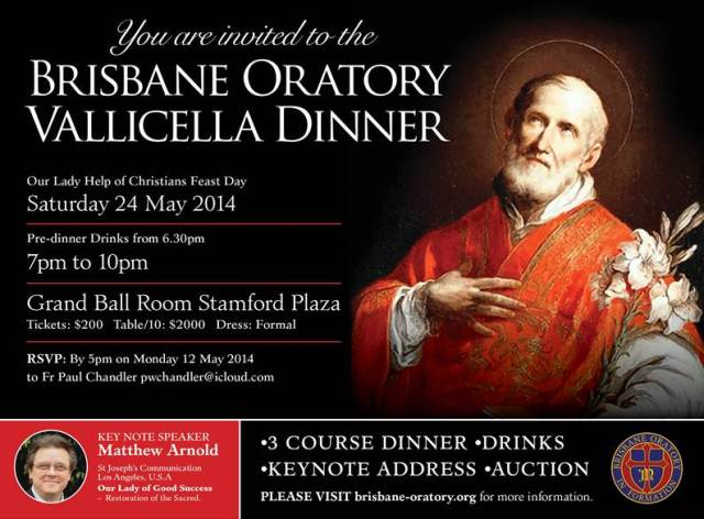 Vallicella Dinner invitation