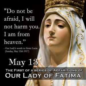 our lady of fatima image and text may 13 1917