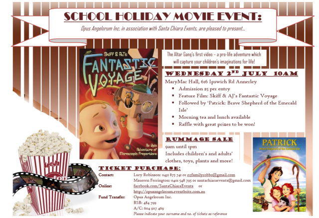 School holiday movie event July 2 2014